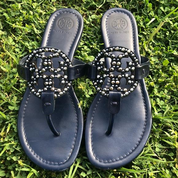 0a3dd710b593 Tory Burch Blue Miller Embellished Sandal